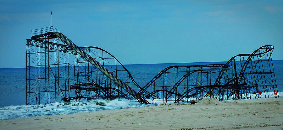 Seaside Heights Photograph - Sandys Rollercoaster by William Walker