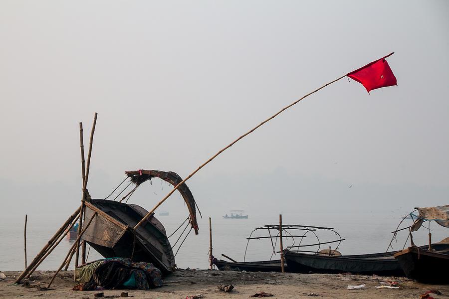 Allahabad Photograph - Sangam Boats by Gaurav Singh