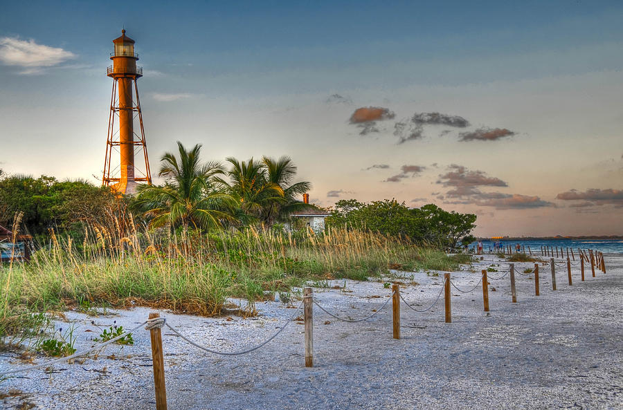 Sanibel Lighthouse by Geraldine Alexander