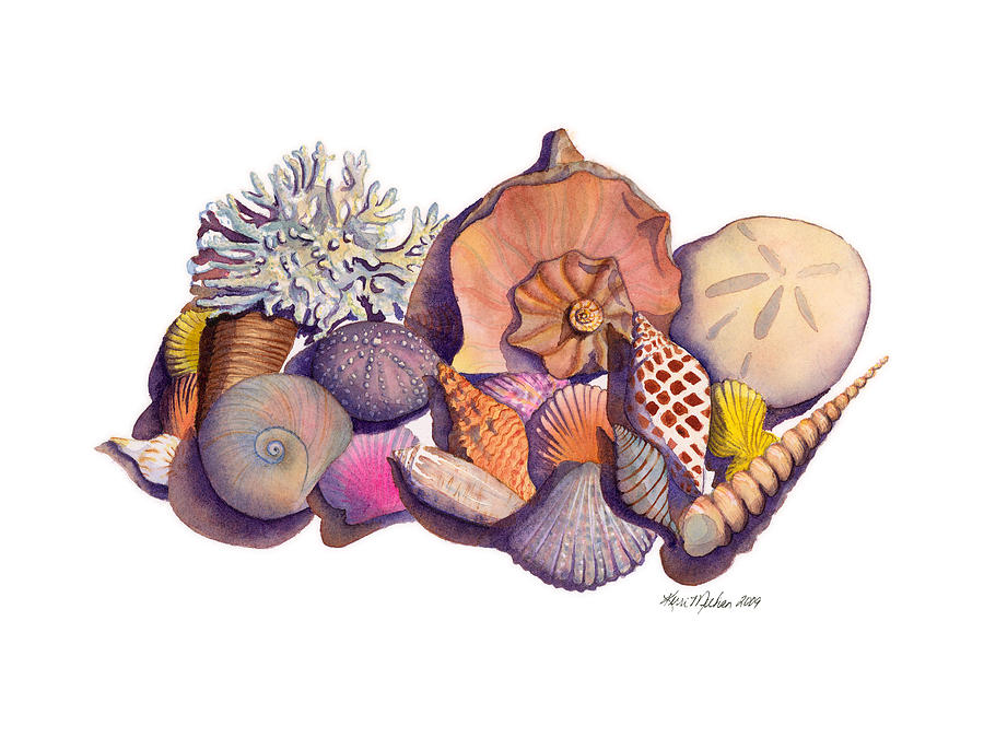 Shells Painting - Sanibel Shells by Kerri Meehan