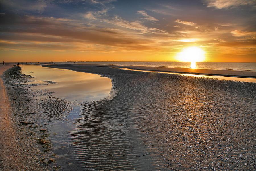 Beach Photograph - Sanibel Sunrise Xxi by Steven Ainsworth