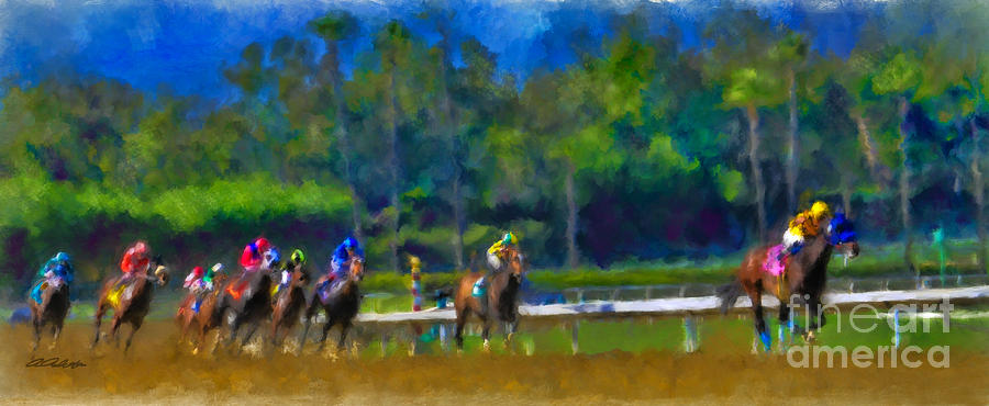 Santa Anita Races by Andrea Auletta