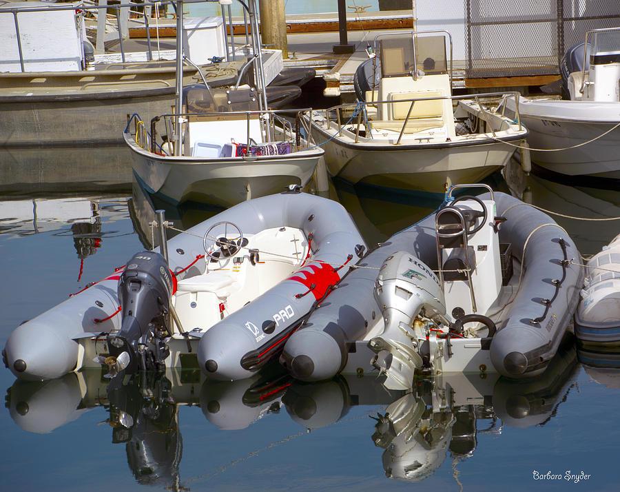 Barbara Snyder Photograph - Santa Barbara Boat Rentals 2 by Barbara Snyder