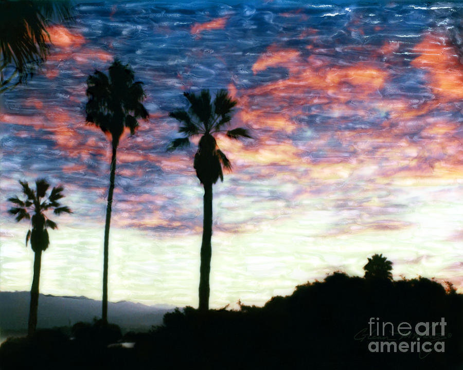 Santa Barbara Palm Sunrise by Glenn McNary