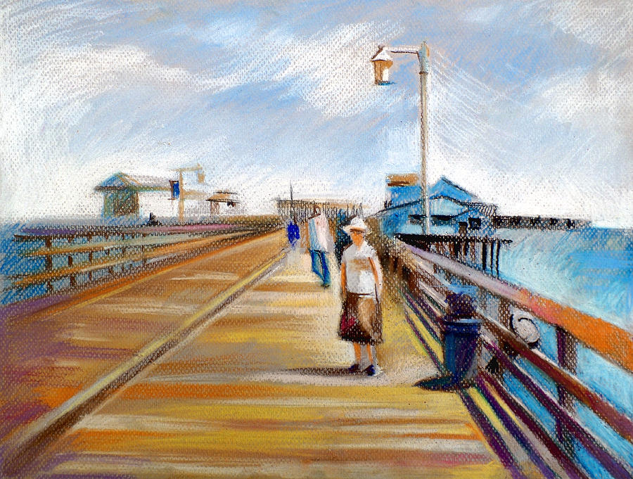 American Landscape Drawing - Santa Barbara Pier by Filip Mihail