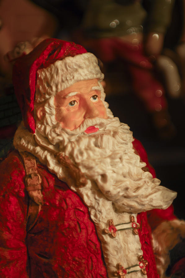 Santa Claus Photograph - Santa Claus - Antique Ornament - 01 by Jill Reger