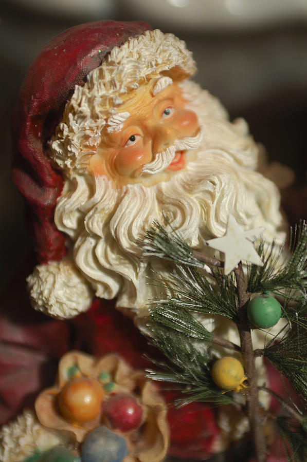 Santa Claus Photograph - Santa Claus - Antique Ornament - 18 by Jill Reger