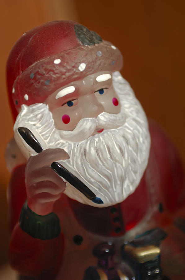 Santa Claus Photograph - Santa Claus - Antique Ornament - 24 by Jill Reger