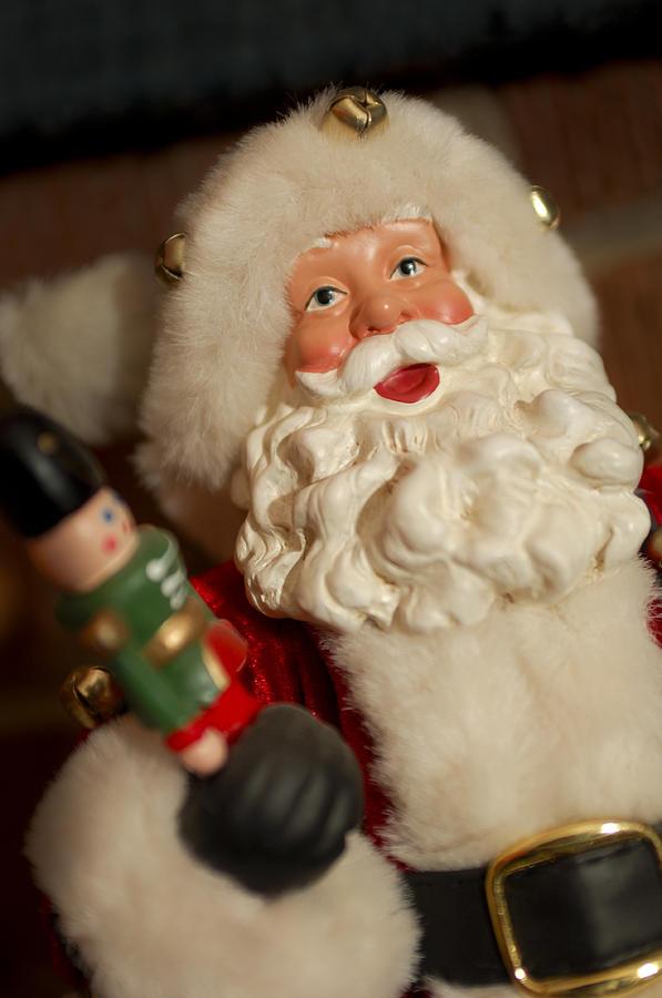 Santa Claus Photograph - Santa Claus - Antique Ornament - 25 by Jill Reger