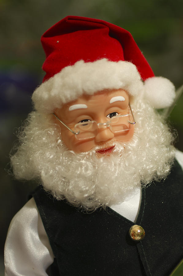 Santa Claus Photograph - Santa Claus - Antique Ornament - 30 by Jill Reger