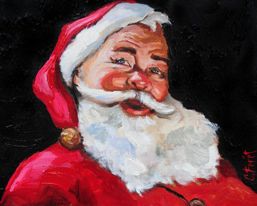 Santa Painting - Santa Claus by Carole Foret