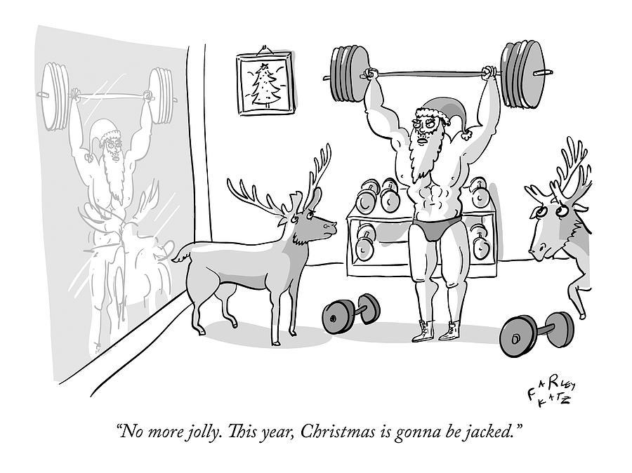 Santa Claus Drawing by Farley Katz