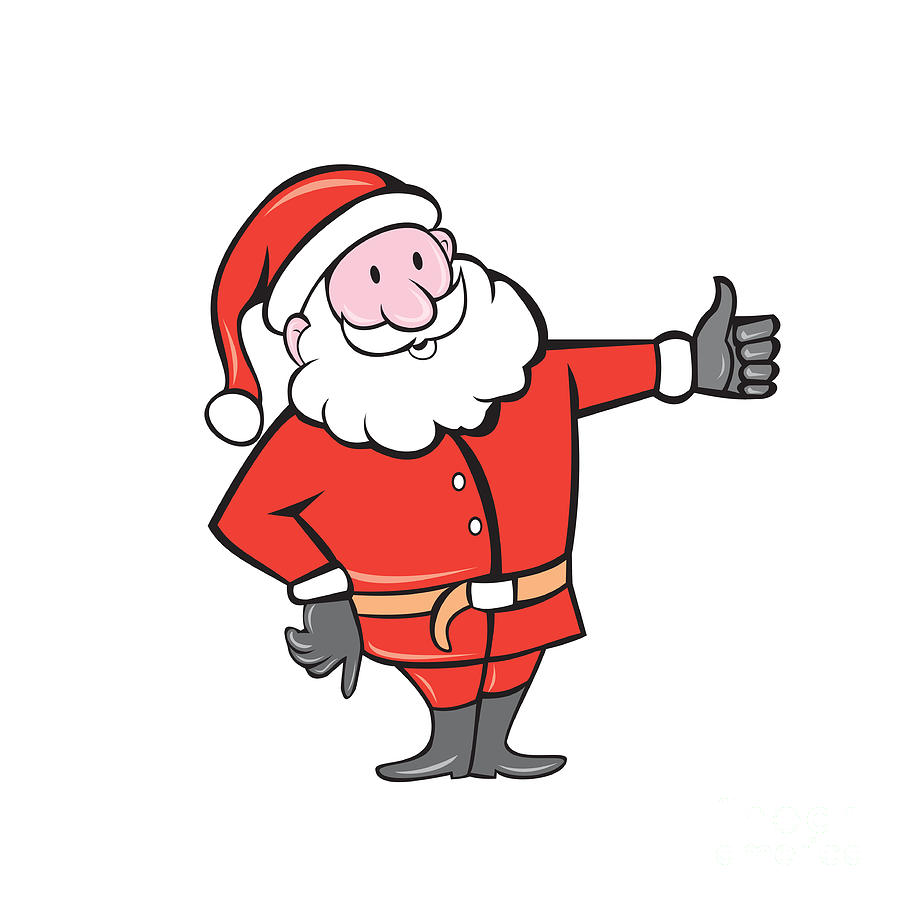 santa claus father christmas thumbs up cartoon digital art by aloysius patrimonio santa claus father christmas thumbs up cartoon by aloysius patrimonio