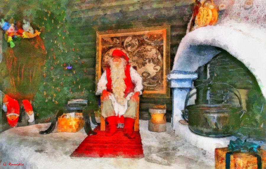 Santa Claus Painting - Santa Claus by George Rossidis
