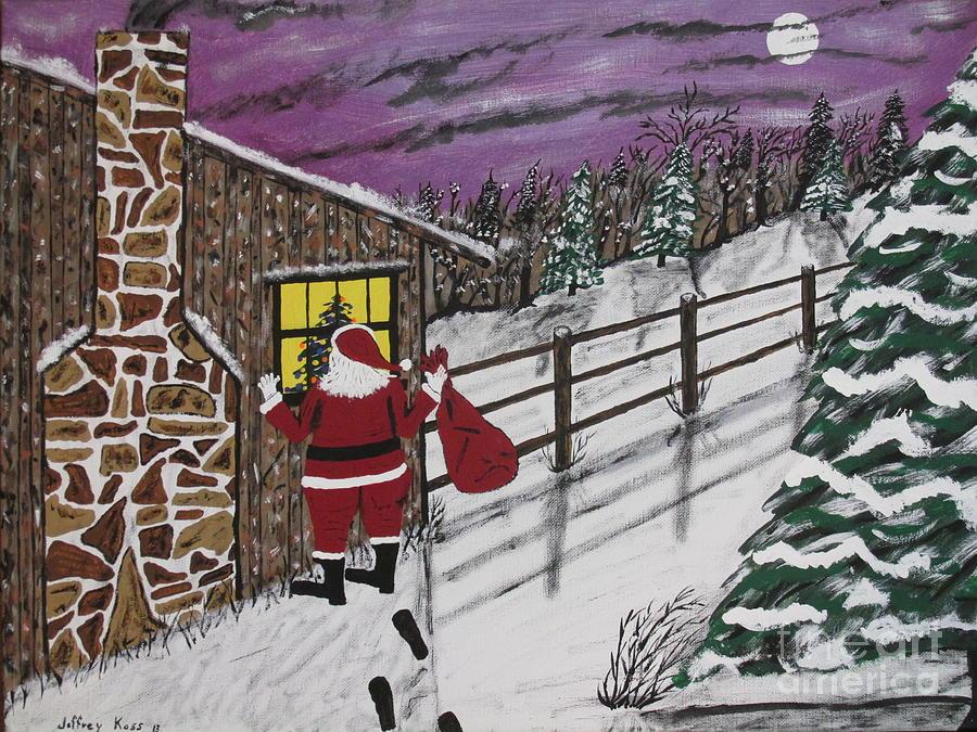 Santa Claus Painting - Santa Claus Is Watching by Jeffrey Koss