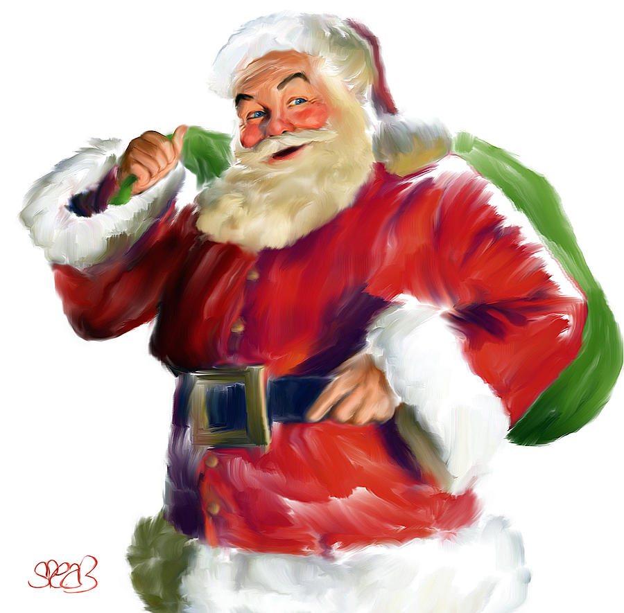 Christmas Painting - Santa Claus by Mark Spears