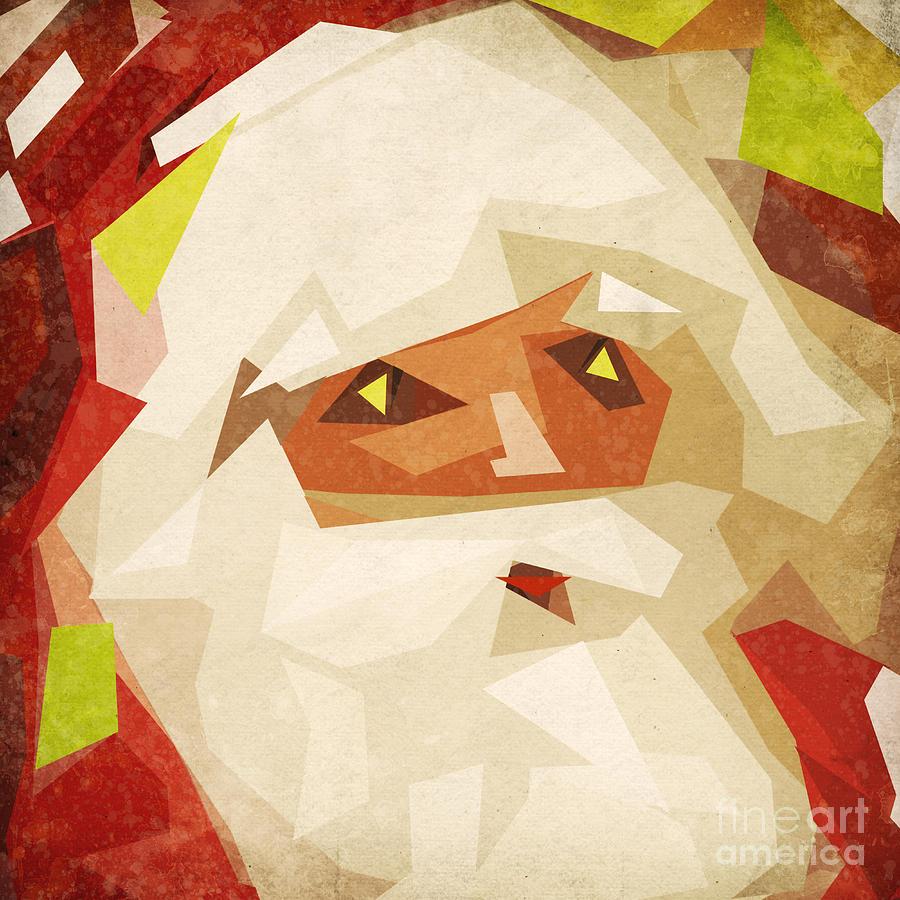 Abstract Painting - Santa Claus by Setsiri Silapasuwanchai