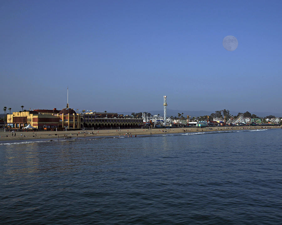 Beach Photograph - Santa Cruz Beach and Boardwalk by Neal Martin