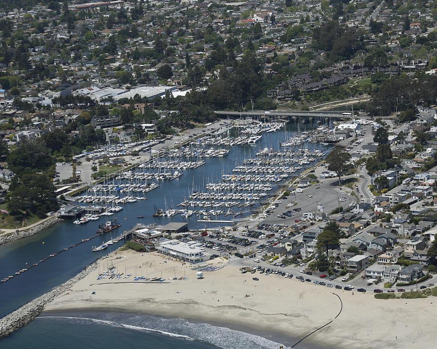 Harbor Photograph - Santa Cruz Harbor by Neal Martin