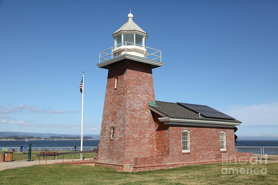 California Photograph - Santa Cruz Lighthouse Surfing Museum California 5d23940 by Wingsdomain Art and Photography