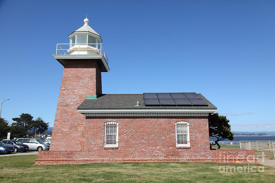 California Photograph - Santa Cruz Lighthouse Surfing Museum California 5d23942 by Wingsdomain Art and Photography