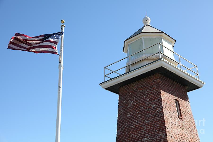 California Photograph - Santa Cruz Lighthouse Surfing Museum California 5d23951 by Wingsdomain Art and Photography