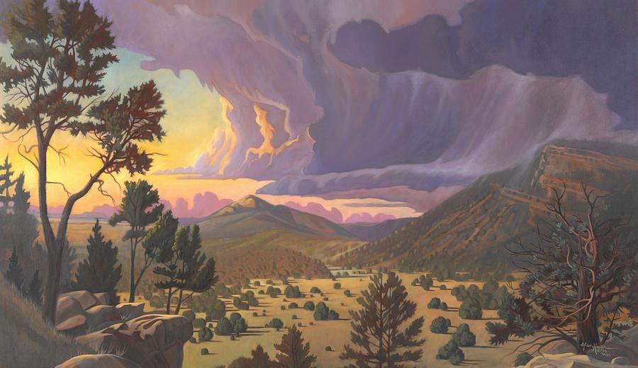 Santa Fe Painting - Santa Fe Baldy by Art West