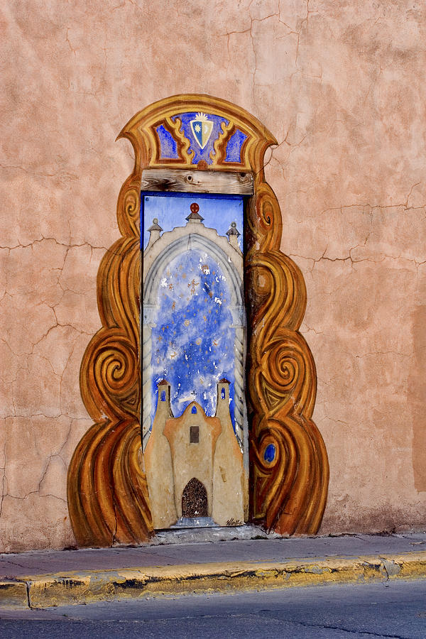 Santa Fe Photograph - Santa Fe Door Mural by Carol Leigh
