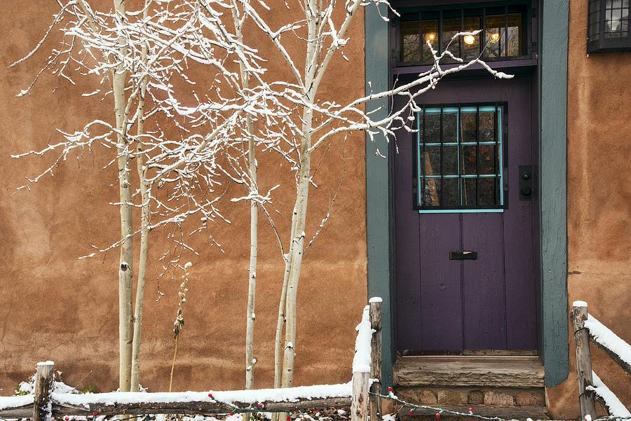 Santa Fe Purple door by Dave Dilli