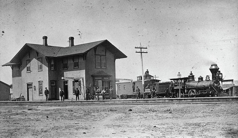 1883 Photograph - Santa Fe Railway, 1883 by Granger