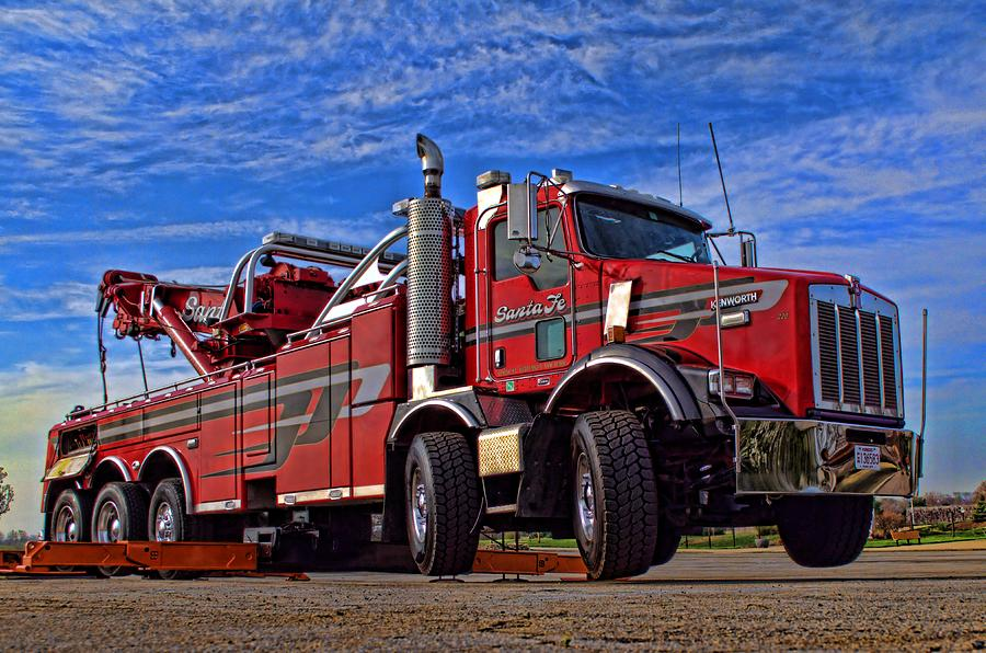 santa fe tow kenworth big rig tow truck photograph by tim mccullough. Black Bedroom Furniture Sets. Home Design Ideas