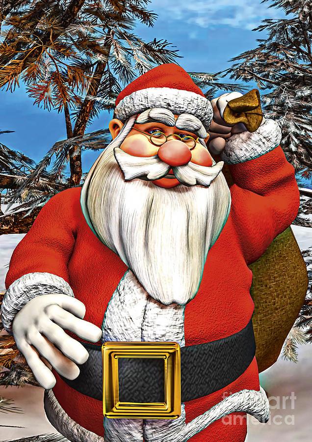 Christmas Digital Art - Santa Gifts by Design Windmill