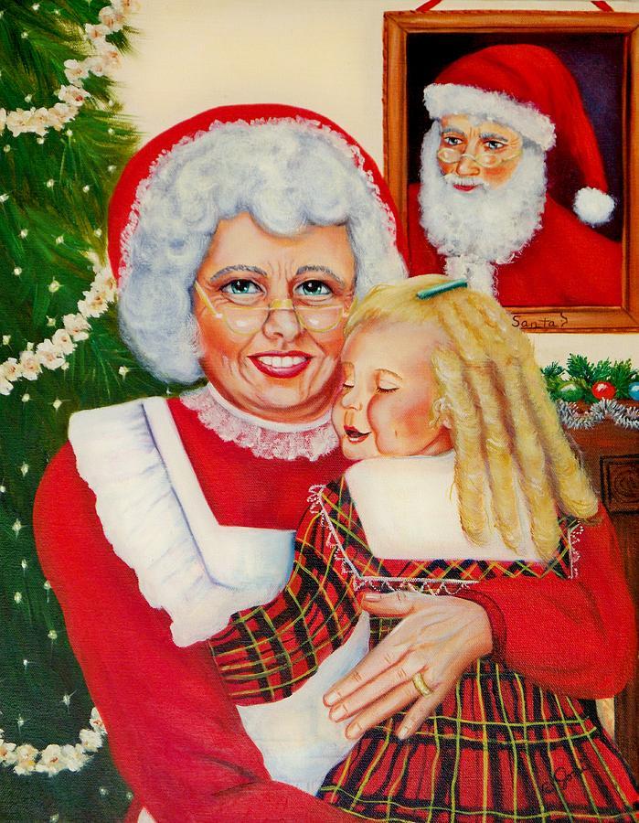 Christmas Painting - Santa by Joni McPherson