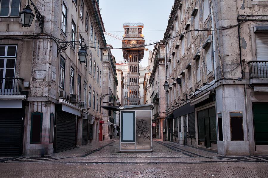 Lisbon Photograph - Santa Justa Lift In Lisbon by Artur Bogacki