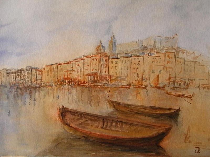 Santa Painting - Santa Margherita Ligure by Juan  Bosco