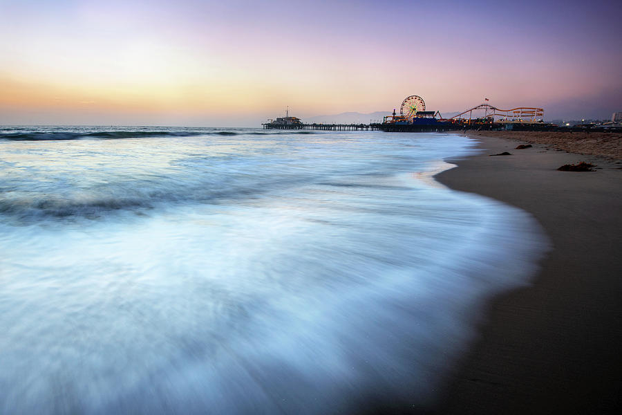 Santa Monica Beach Photograph by Piriya Photography