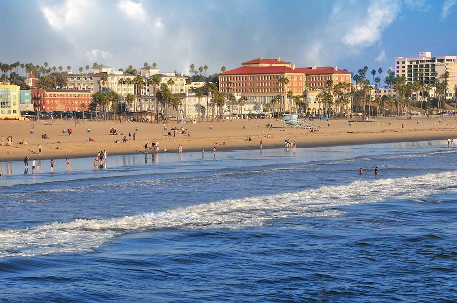 Landscapes Photograph - Santa Monica Beach View  by Lynn Bauer