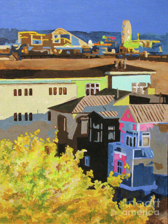 California Painting - Santa Monica by Nancie Johnson