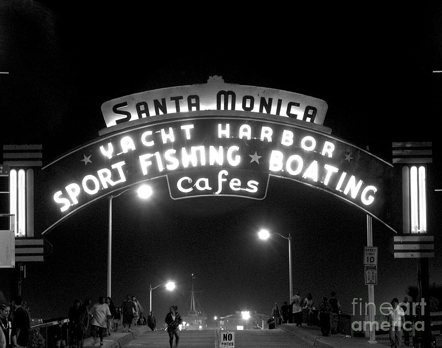 Sign Photograph - Santa Monica Pier 1 by David Doucot