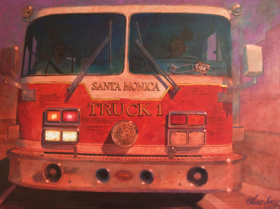 Paintings Painting - Santa Monica Truck One by Blue Sky
