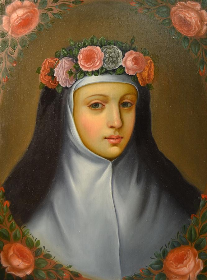 Santa Rosa De Lima Painting by Jose antonio Robles
