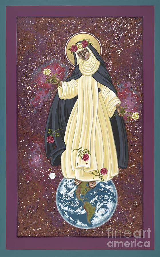 St. Rose Of Lima Painting - Santa Rosa Patroness of the Americas 166 by William Hart McNichols