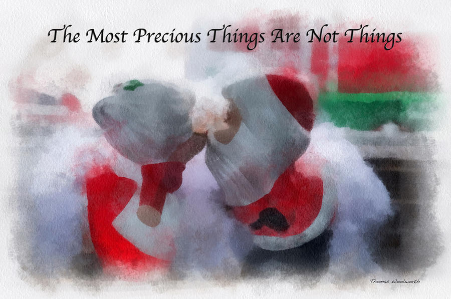 Christmas Photograph - Santa The Most Precious Photo Art by Thomas Woolworth