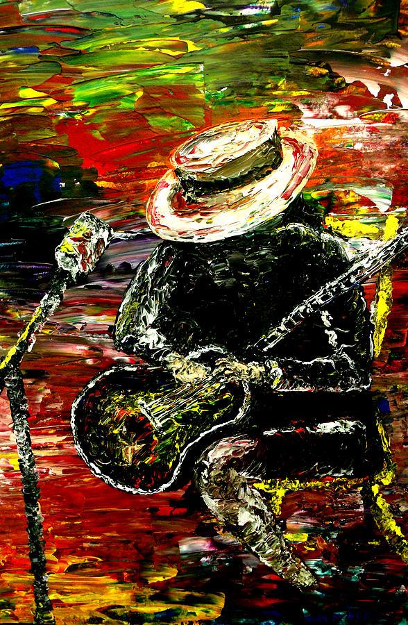 Carlos Santana Painting - Santana by Mark Moore