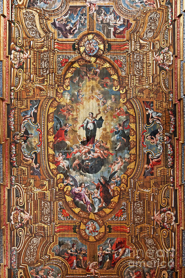 Santarem Cathedral Painted Ceiling Photograph by Jose ...