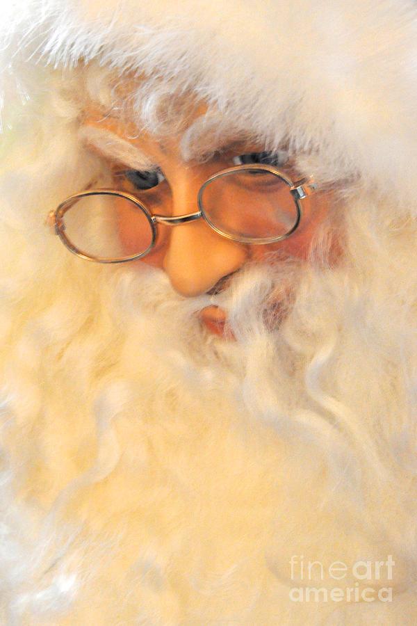 Christmas Photograph - Santas Beard by Vinnie Oakes