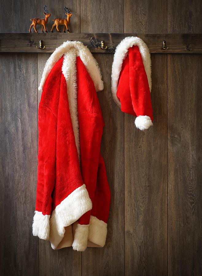 Santa Photograph - Santas Coat by Amanda Elwell