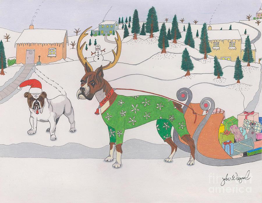 Santas Helpers by John Wiegand