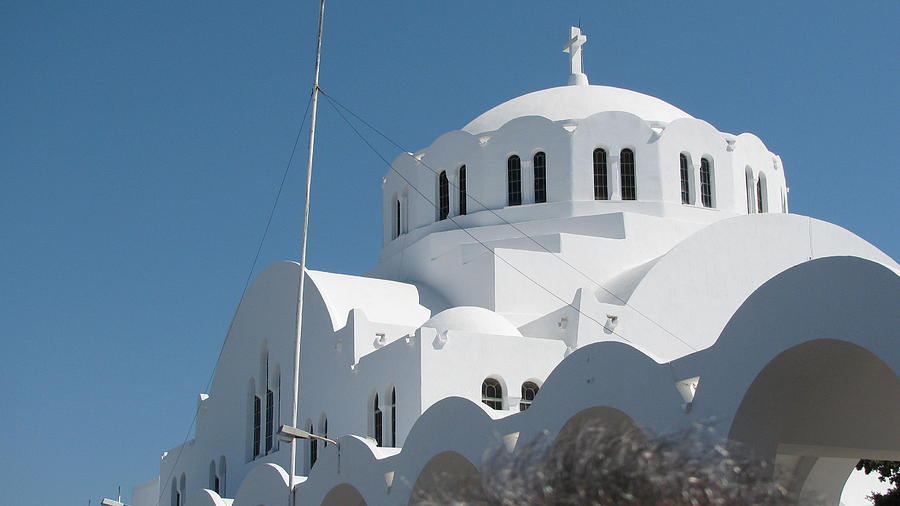Santorini Greece Photograph by Suzy  Godefroy