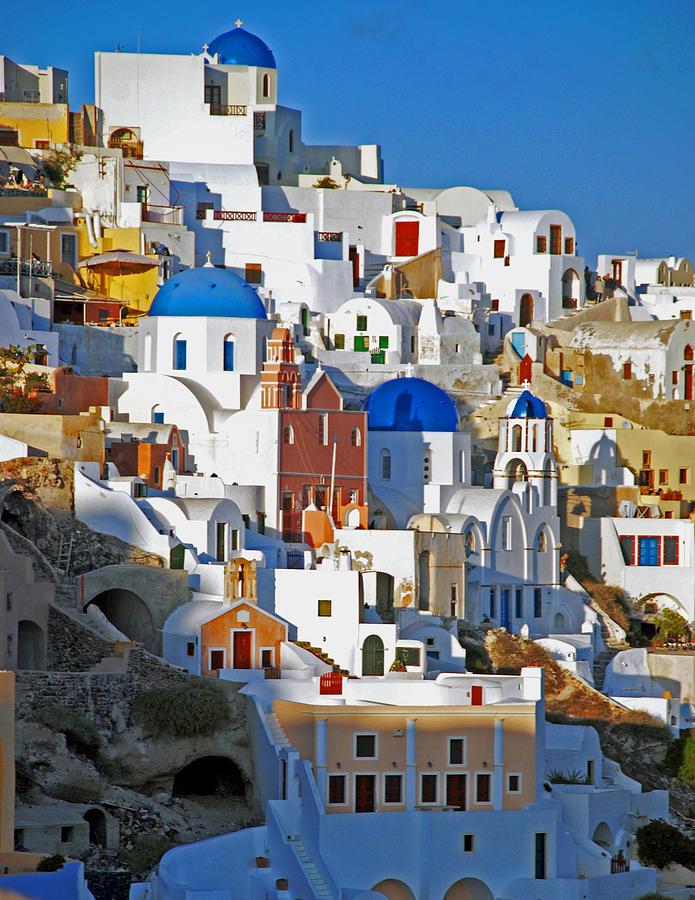 Santorini Hillside by Pristine Images